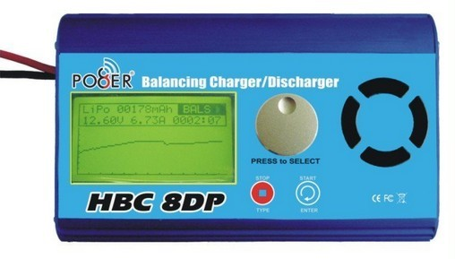 HBC8DP rc balance charger/discharger for rc hobbies 180w/10A